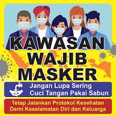 Free Desain Banner Wajib Pakai Masker