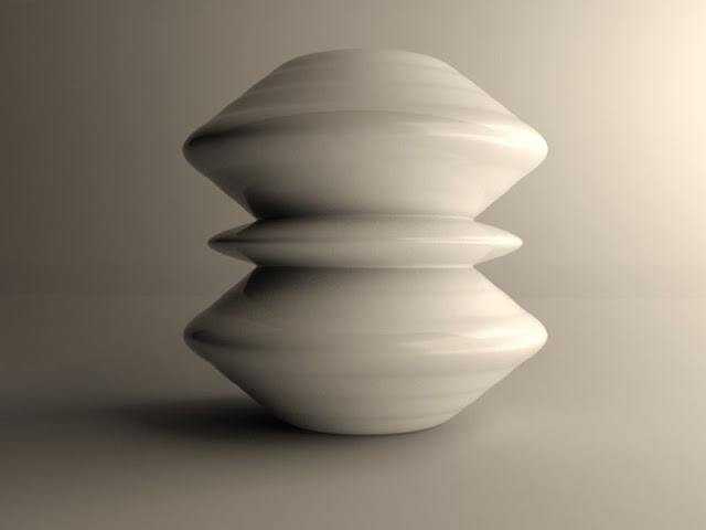 White Printing Vase White Printing Vase modern vase 3d model max obj 3ds stl dae mtl