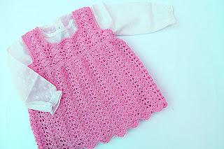 6*Crochet Imagen Vestido a crochet en forma de pichi o peto muy fácil