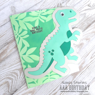 Dinosaur shaped card