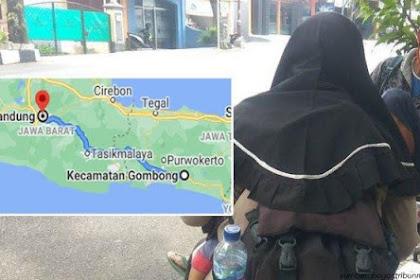 Kisah Pilu Keluarga Yang Nekat Mudik Jalan Kaki Dari Gombong Ke Bandung. Hanya Berbekal Rp120 Ribu!