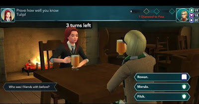 Drink Butterbeer, Tulip, Questions and Answers, Harry Potter Hogwarts Mystery