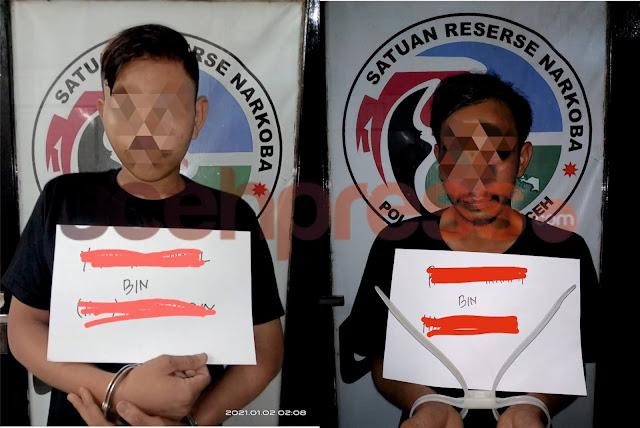 Miliki Sabu, Dua Pemuda di Banda Aceh Diamankan Satresnarkoba Polresta Banda Aceh