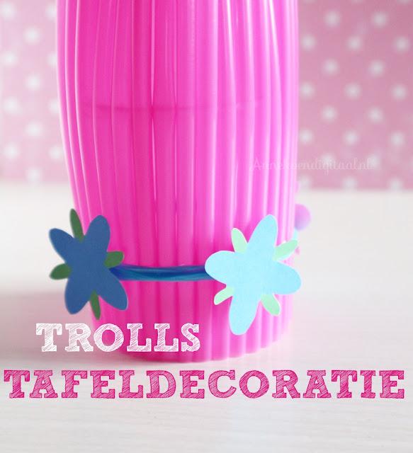 Trolls knutselen, trolls traktatie, trolls haarband maken, poppy haarband maken, knutselen trolls, traktatie trolls, trolls feeest, feest artikelen trolls
