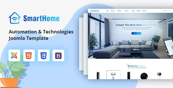 Best Smart Home Automation & Technologies Joomla Template
