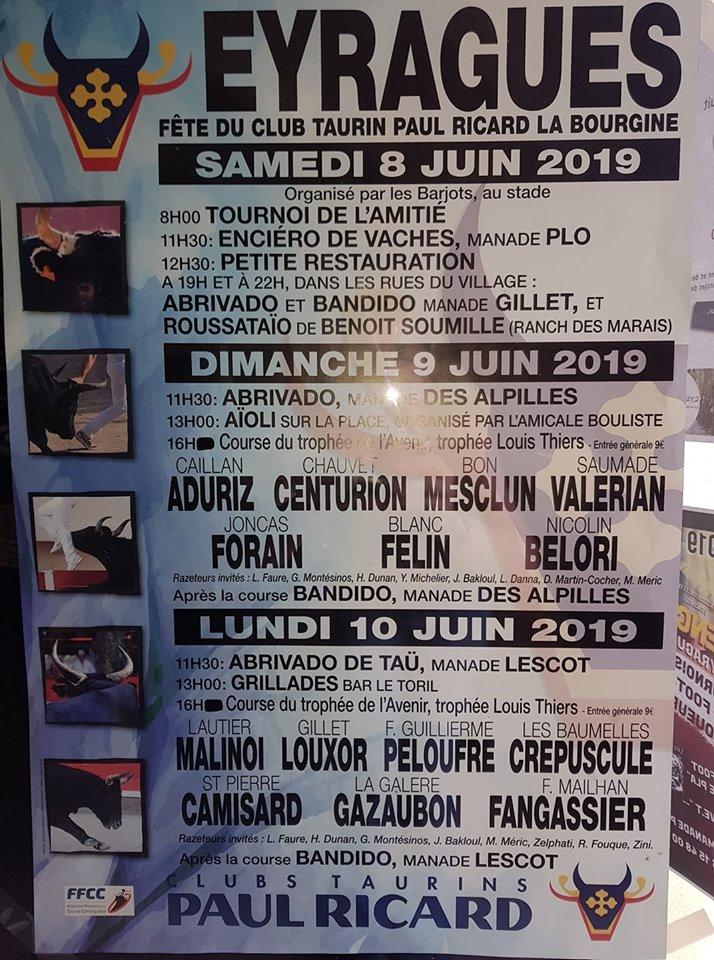 Ffcc Calendrier 2020.Le Journal D Eyragues Programme Des Fetes De La Pentecote