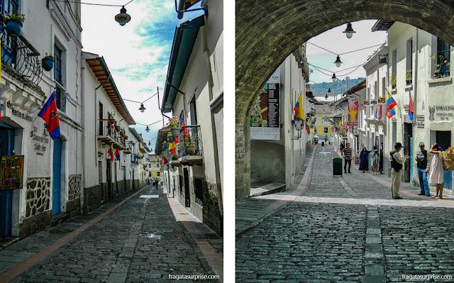 La Ronda, rua de bares e restaurantes no Centro Histórico de Quito