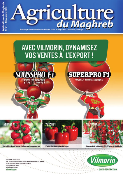 المجلة الزراعية المغربية العدد 71     Agriculture du maghreb