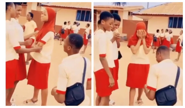 Secondary School Boy Proposes To Girlfriend On Her Birthday With N50k Ring (Video)