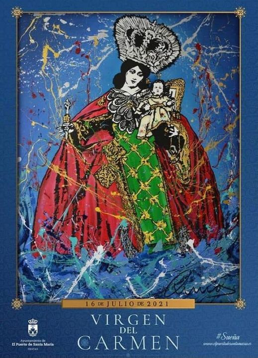 Cartel de la Festividad de Nuestra Señora del Carmen de El Puerto de Santa María 2021