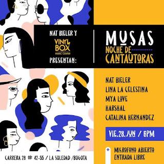 Concierto de NAT BIELER en Bogotá junto a grandes invitadas