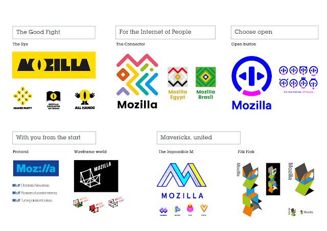 Novos logos da Mozilla