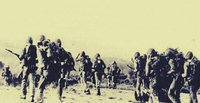 Pergerakan tentara Indonesia dalam misi Operasi Seroja untuk Invasi Timor-Timur