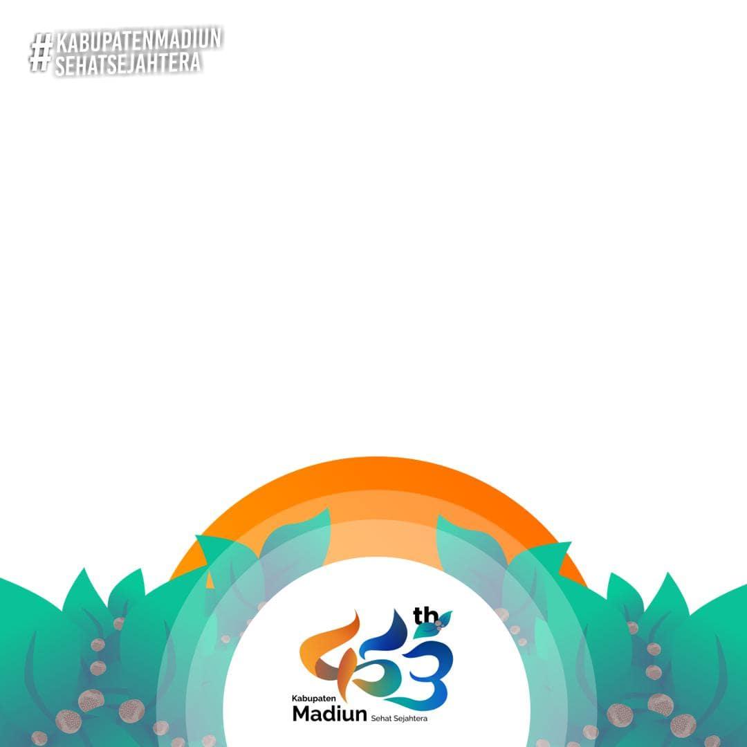 Template Background Frame Bingkai Twibbon Hari Jadi Kabupaten Madiun 2021 - 453th Kabupaten Madiun