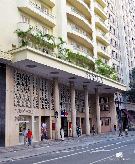 Vista da fachada do Cine Marabá - República - São Paulo