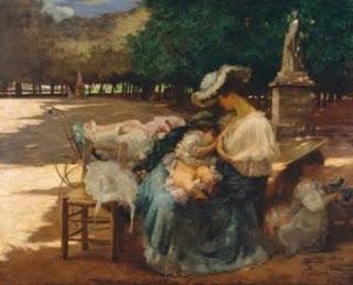 Maternidade, pintura de Eliseu Visconti.