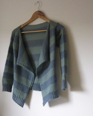 waterfall front handknit cardigan
