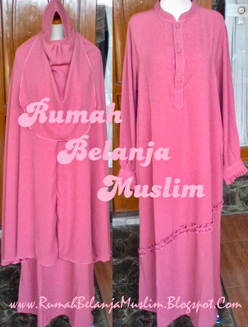 Gamis Akhwat Muslimah Peach