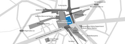 Map of Shibuya Scramble Square in Tokyo