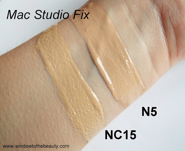 mac studio fix  n5 nc15 swatche
