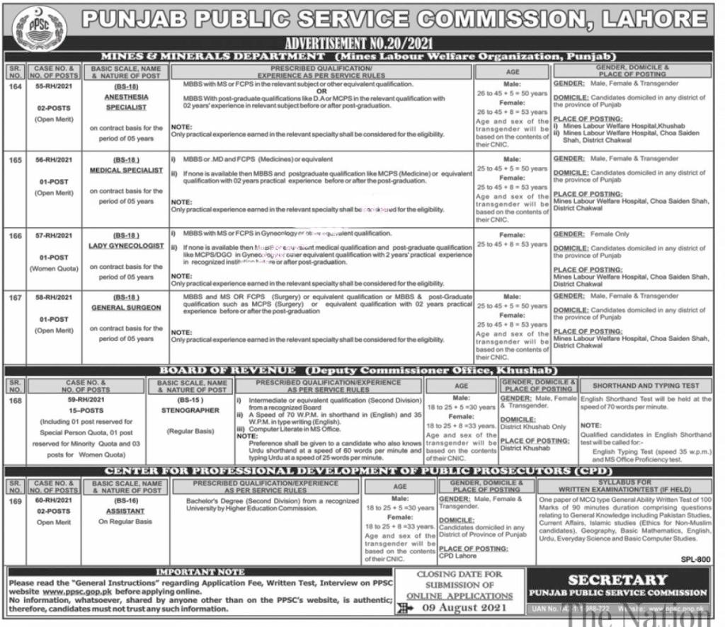 PPSC Jobs 2021 | Apply Online via ppsc.gop.pk