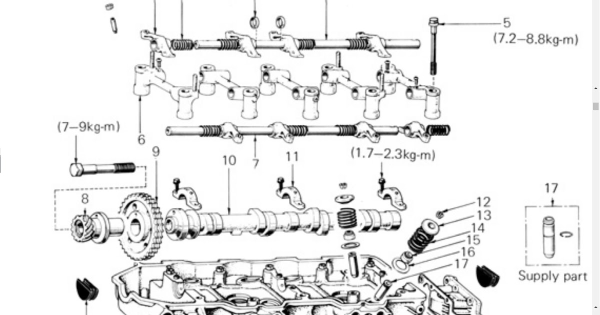 20R Toyota Engine head exploded view | Technology
