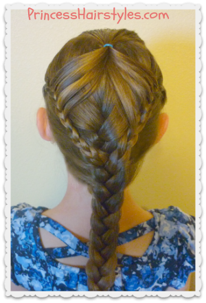 Half Up Hairstyle Fairy Wings Braid Hairstyles For Girls Princess Hairstyles