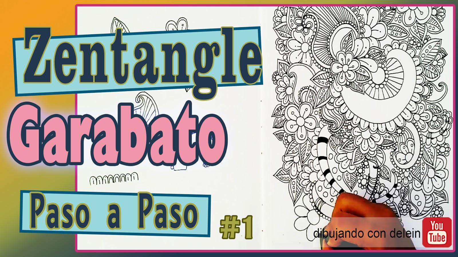 Dibujando Con Delein Como Dibujar Garabato Zentangle 1