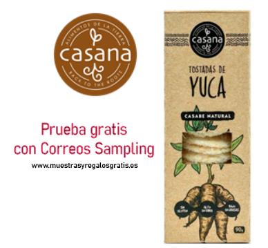 Prueba gratis tostadas de yuca Casana Foods