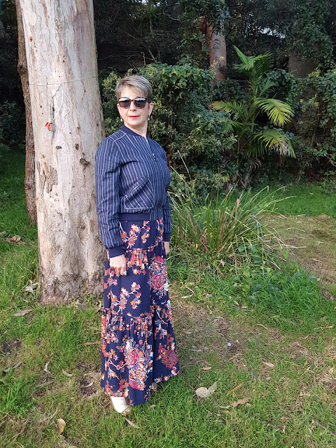 Marks-and-Spencer-floral-print-straight-maxi-skirt|linen-rich-pin-stripe-linen-bomber-jacket