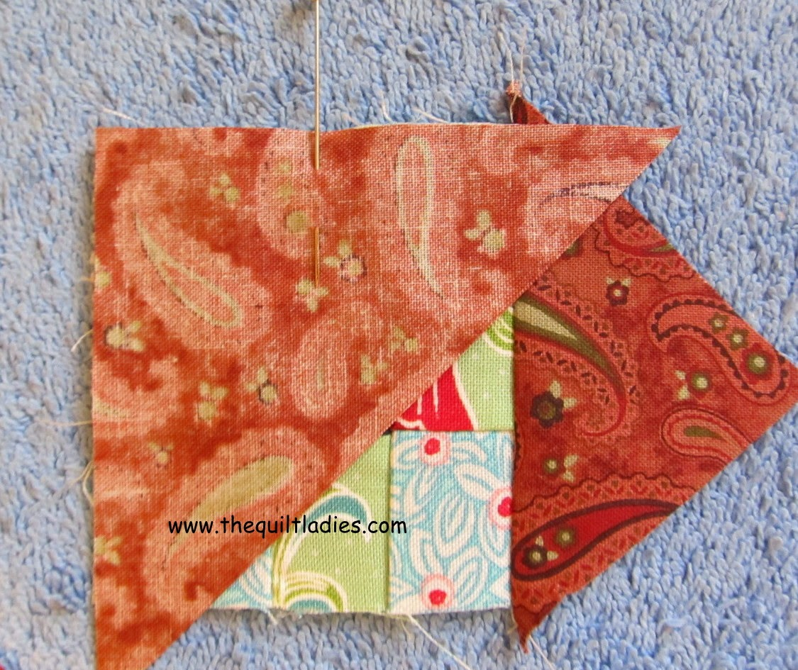 free nine patch quilt block into a quilted table topper.