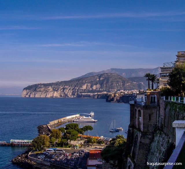 Sorrento: Marina Piccola, de onde partem barcos para a Ilha de Capri