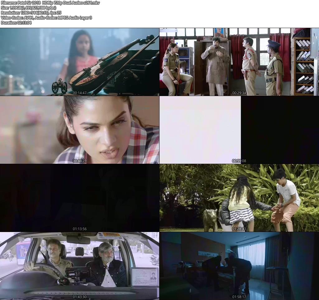 Patel Sir 2018 HDRip 720p Dual Audeo x264 | 480p 300MB | 100MB HEVC Screenshot