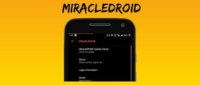 Custom ROM MiracleDroid 1.0 Oreo unofficial for Riva (Redmi 5A)