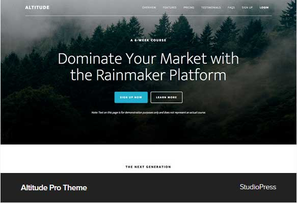 Altitude Pro theme Award Winning Pro Themes for Wordpress Blog : Award Winning Blog