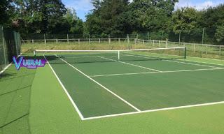 Contoh Foto Lapangan Bola Tenis Outdoor (Luar Ruangan)