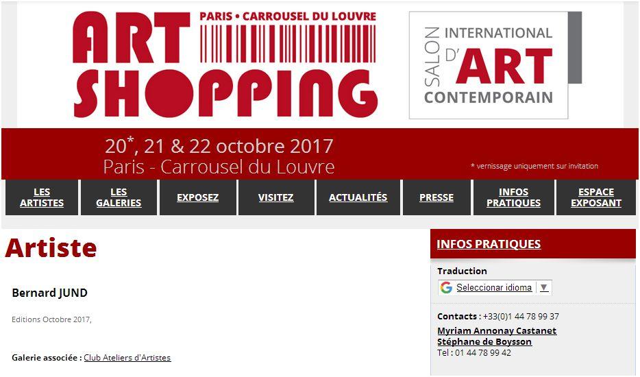 Bernard jund peintre 20 21 22 octobre 2017 jund paris - Expo paris octobre 2017 ...