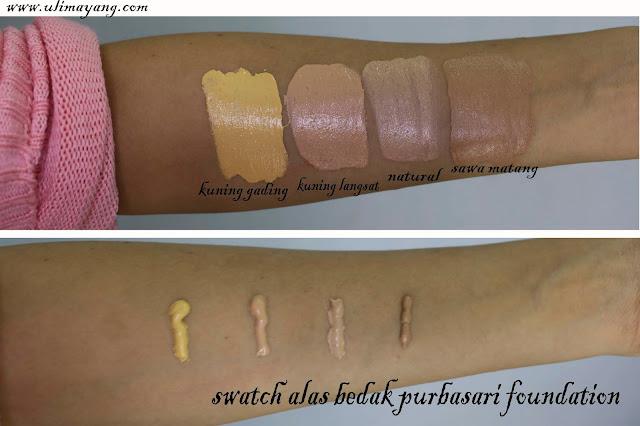 foundation-alas-bedak-purbasari-swatch-semua-shade-kuning-gading-kuning-langsat-natural-sawo-matang