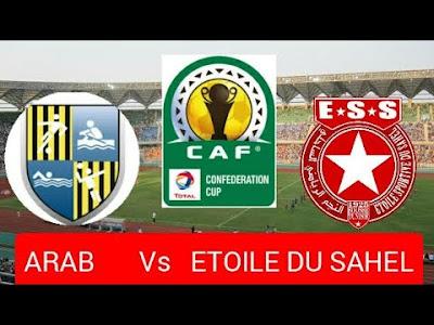 مباراة المقاولون العرب والنجم الساحلي كول كروة مباشر 6-1-2020 والقنوات الناقلة ضمن كأس الكونفيدرالية الأفريقية