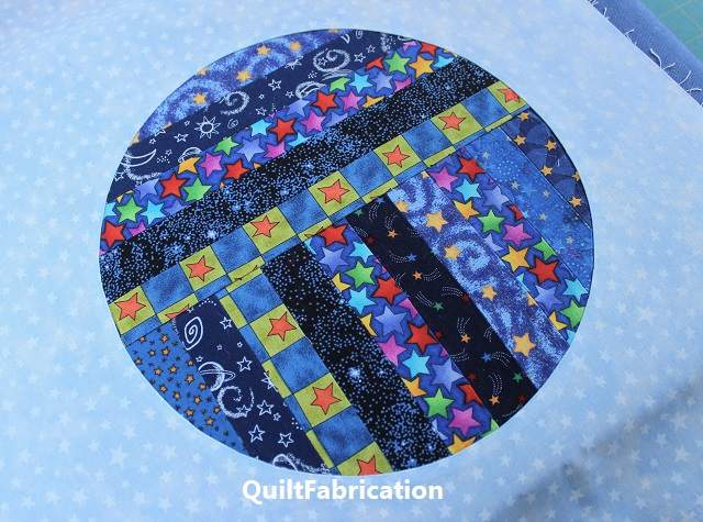 inset circle at QuiltFabrication