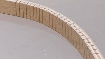 طي وثني خشب الكونتر بعد تشريحه