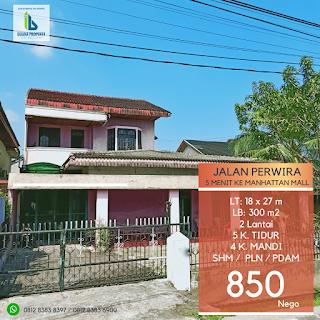 Rumah Second - Hadap Timur - Jual Tanah Aja - Lokasi Jl. Perwira Gatot Subroto Medan Sumatera Utara