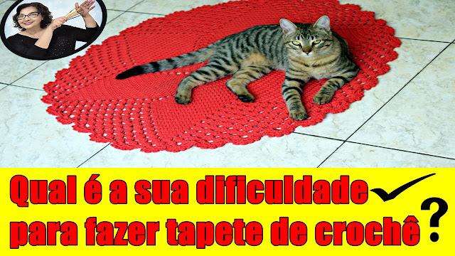 Tapete de Croche para Iniciantes - Qual é a sua dificuldade para fazer tapetes de croche? para destros e canhotos com Edinir Croche