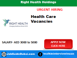 Right Health Holdings career for executive guest relation and Sales jobs in Dubai UAE