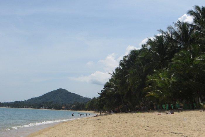 Пляж Маенам, горы и пальмы