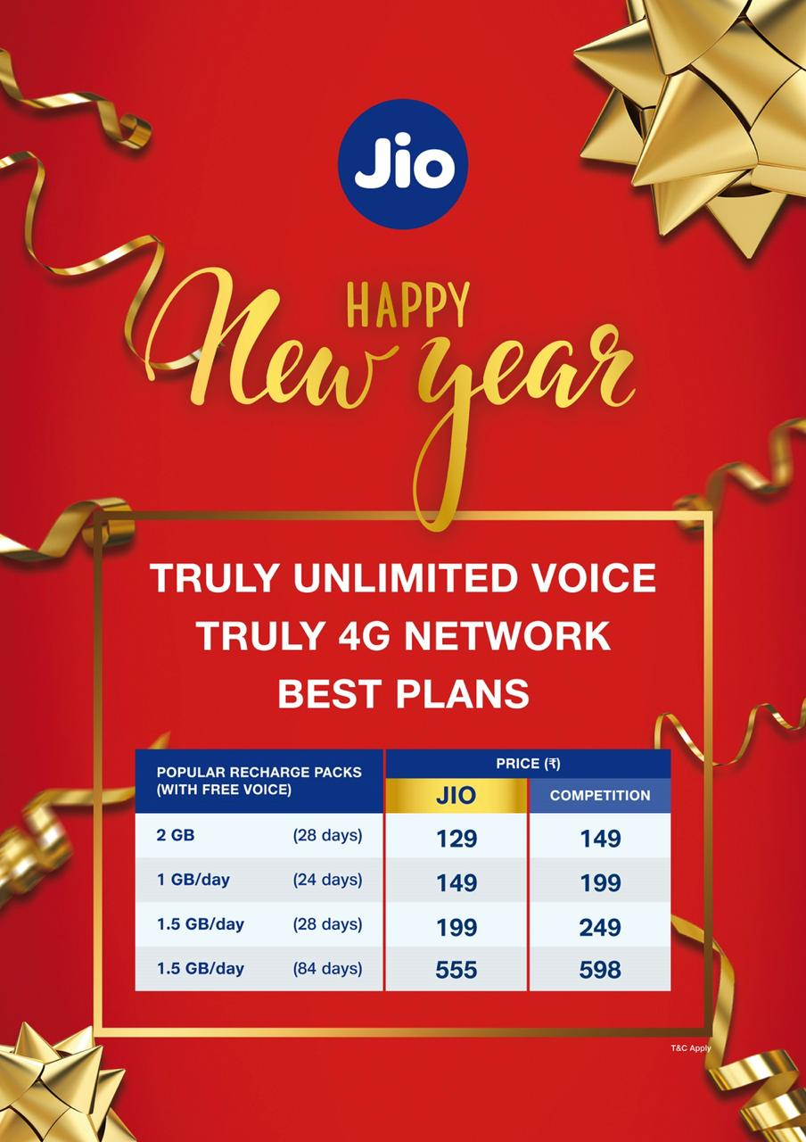 Jio new year offer 2021