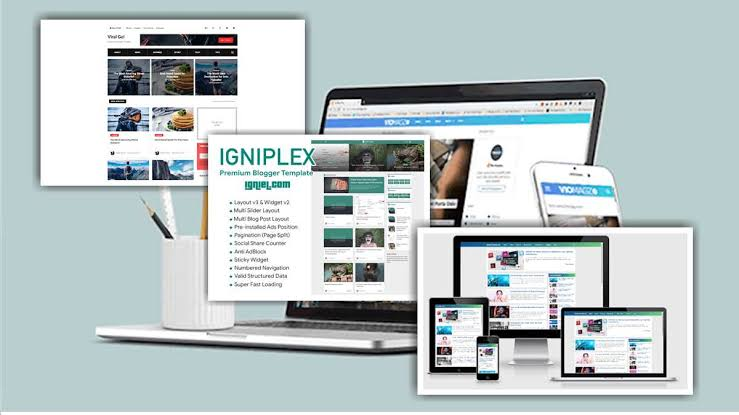 mengganti template baru blog