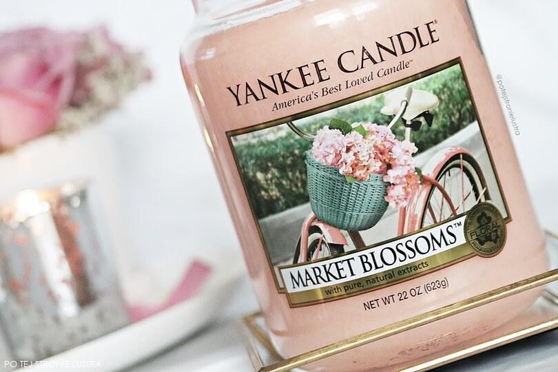 yankee candle market blossoms etykieta świecy