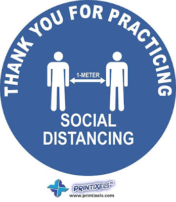 Thank For Practicing Social Distancing Floor Sticker