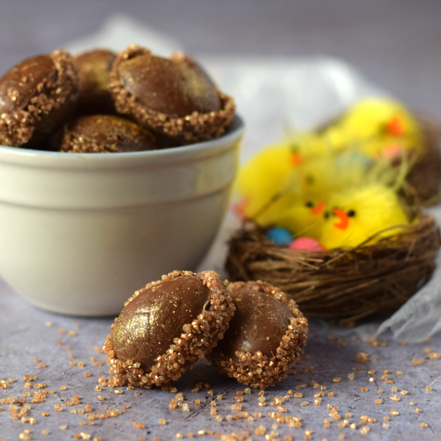 Chocolate Mini Eggs with Popping Candy perfect Easter confectionery treat